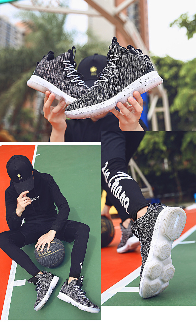 High-top Lebron Basketball Shoes Men Women Cushioning Breathable Basketball Sneakers Anti-skid Athletic Outdoor Man Sport Shoes (9)