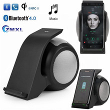 QI Bluetooth Speaker Cellular Quick Wi-fi Charger with Alarm APT-X NFC Pair Moveable Speaker