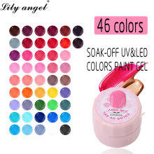 Lily angel 5ml Colorful High Quality Painting Gel Nail Art Tips DIY Design Manicure 46 Colors UV LED Soak Off Polish