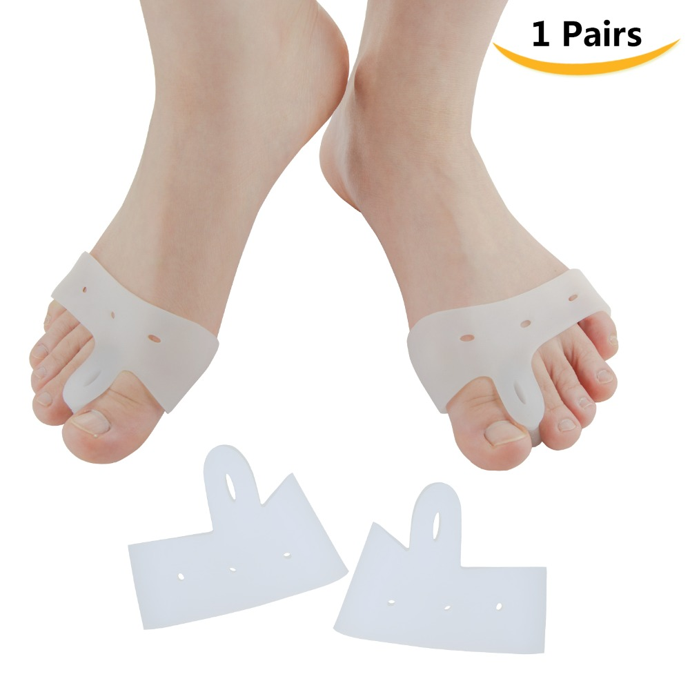 2Pcs Big Toe Bunion Splint Straightener Corrector Foot Pain Relief Hallux Valgus For Unisex Foot Massager C141