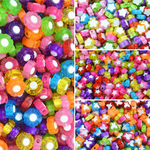 100pcs/Pack Hot Butterfly Star Plum Flower Childre Girls Jewery DIY Beads Necklace Bracelets Loose
