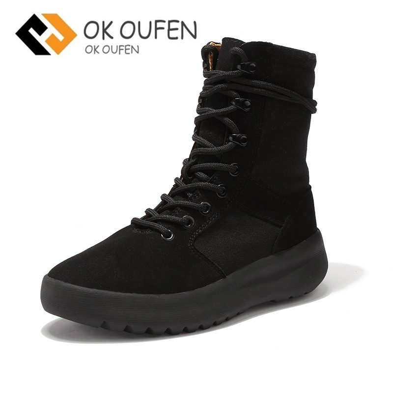High quality mens boots as pour homme military field thick bottom kanye west style seaso ...