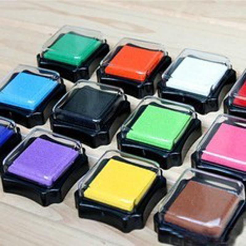1pc 6*6cm Handmade Diy Seal Accessories Octagonal Inkpad Diy Seal Color Boxed Inkpad
