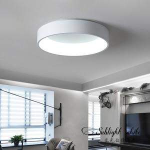 Image 5 - Black/white/Gray Minimalism Modern LED ceiling lights for living room bed room lamparas de techo LED Ceiling Lamp light fixtures
