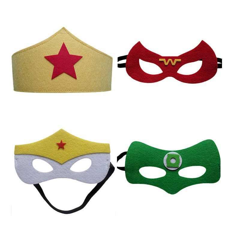 Halloween Masks For Kids.Superhero Cosplay Felt Masks Christmas Halloween Mask Gift Spider Man Iron Man Simple Masks For Kids Child Dress Up For Party