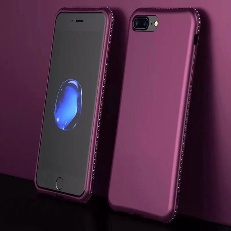 Diamond Glitter Matte Case Cover For Samsung Galaxy S8 S9 Plus S7 Edge A3 A5 A7 J3 J5 J7  A6 A8 Plus Soft Phone Cases