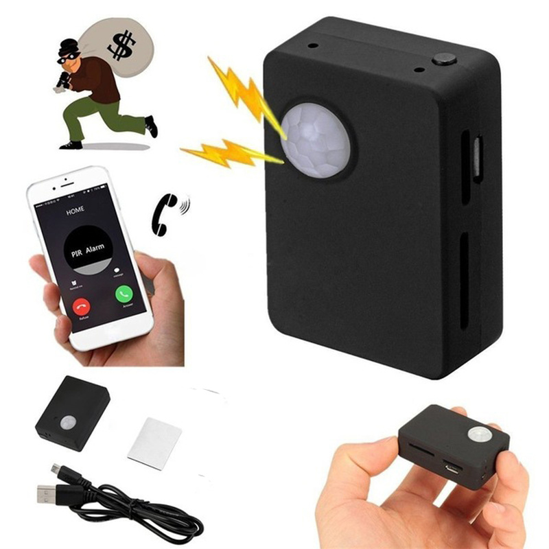Mini X9009 GPS Tracker inteligente inalámbrico PIR Detector de movimiento soporte cámara HD SMS MMS GSM sistema de alarma antirrobo Mirco USB