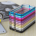 2016 más reciente contra el golpe de aluminio de metal cubierta de parachoques del capítulo para iphone 6 5 5S para iphone 7 7 plus ultra thin slim case cubierta