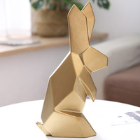 Modern White Rabbit Home Ornament Yellow Anime Figures Ceramics Crafts Gifts for Friend ElimElim