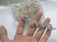 Diamante di cristallo del rhinestone catena decorativa, fiore forma S cupchain, strass rifilatura applique cintura fai da te