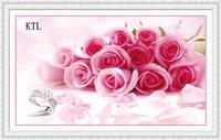 5d Diy Diamond Diamond Painting Bedroom Rose Rose Together With Brick Stone Show 5D Stick Cross