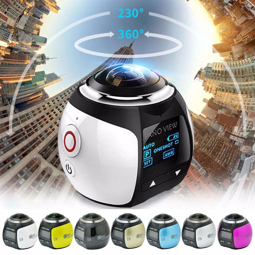 Prix pour 4 K 360 Degrés Action Vidéo Caméra Wifi Mini 2448*2448 16MP Ultra HD Panorama Caméra 3D Étanche Sport conduite VR Caméra