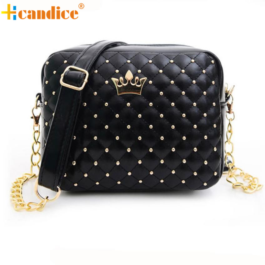 Naivety Women Handbag New Fashion Messenger Bags PU Leather Rivet Chain Shoulder Lady Bag JUN6U drop shipping