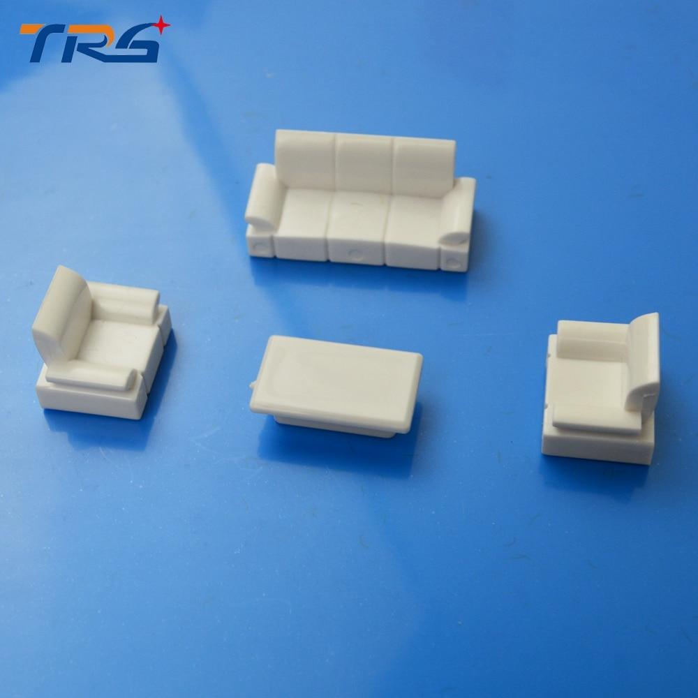 Indoor Models Sofa 1:50 Scale Plastic Model Simple Sofa Set For Living Room Decorative