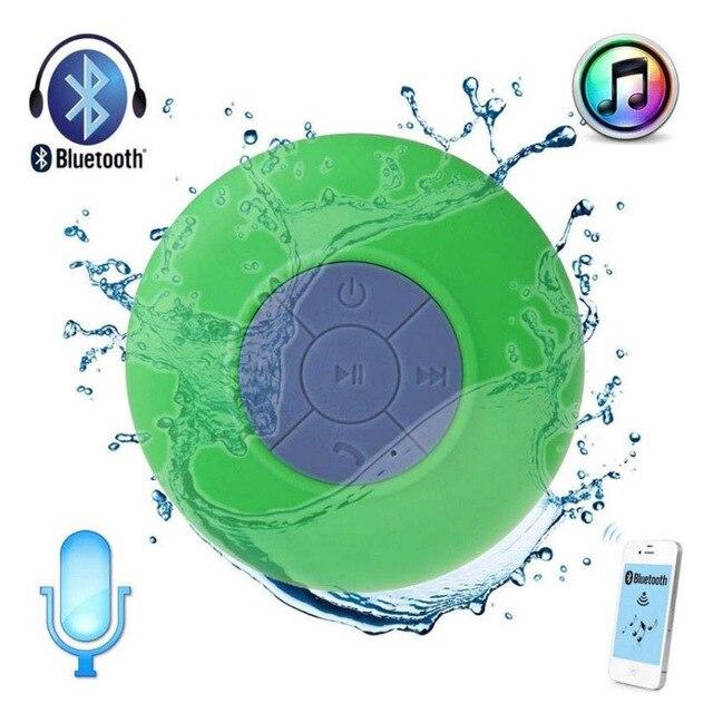 Оптовые Bluetooth Водонепроницаемый Беспроводной Динамик для душа музыкальный плеер светодиод мигает громкоговоритель с присоской foriphone LG PC