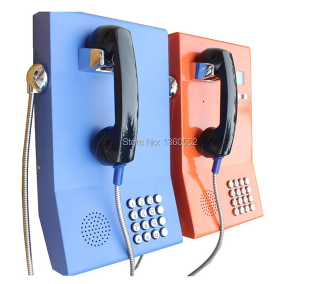 Armored Public Courtesy Phone Vandal Resistant Telephone Voip Handset Metal Rugged