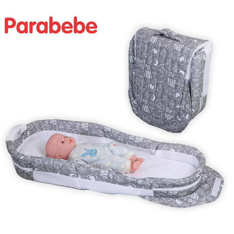 Foldable Travel Bed Cradle For Newborn Infant Portable Crib Children Bed For Baby Kids Sleeping Travel Cot Folding Baby Crib luxury portable cradle newborn baby cradle multifunctional baby bed play bed with music toy can folding 2in1 crib cotton cot