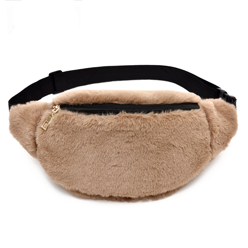 TAKEM Faux Rabbit Fur Women Men Fanny Waist Bag Bum Bags Luxury Brand Designer Female Shopping Travel Package sac tour de taille