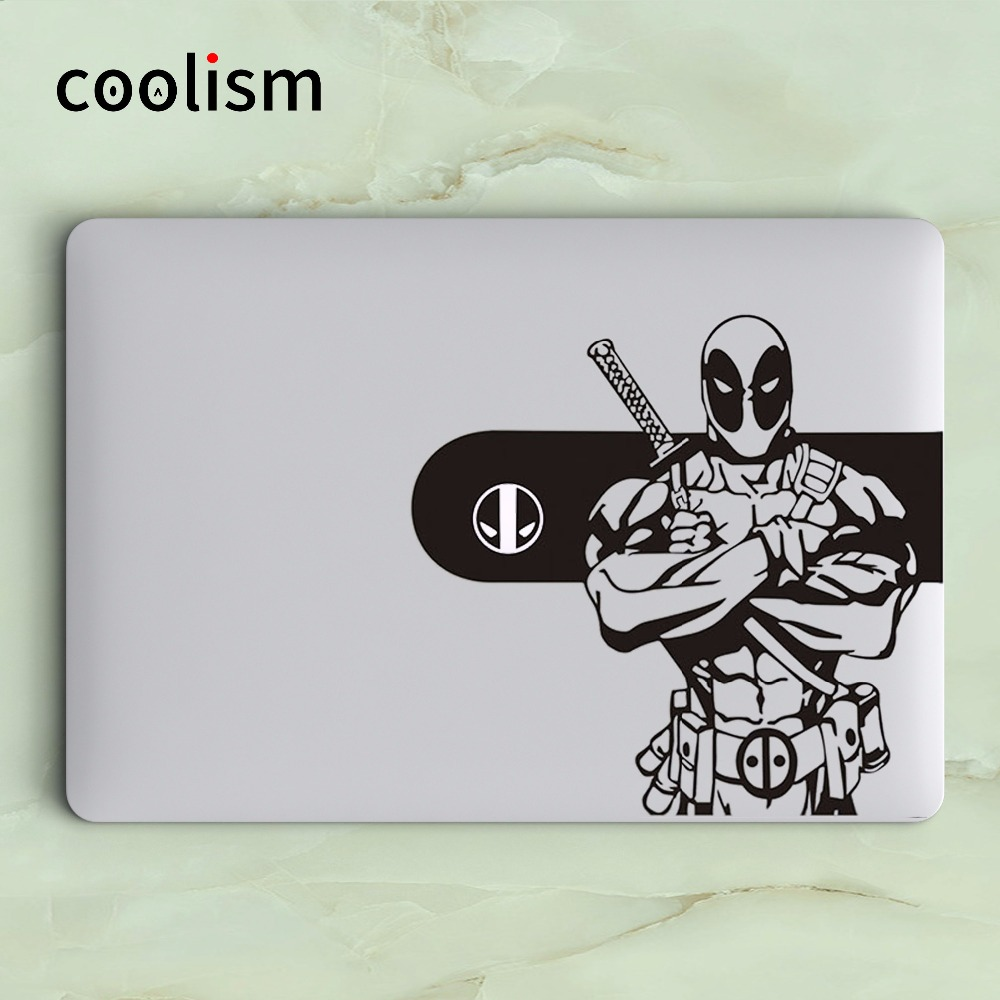 15, Black DEADPOOL Apple MacBook Decal Sticker