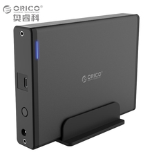 ORICO Type-C to SATA III 3.5″ Vertical Aluminum External Hard Drive Enclosure for SATA HDD/SSD [Support 8TB & UASP ]- Black