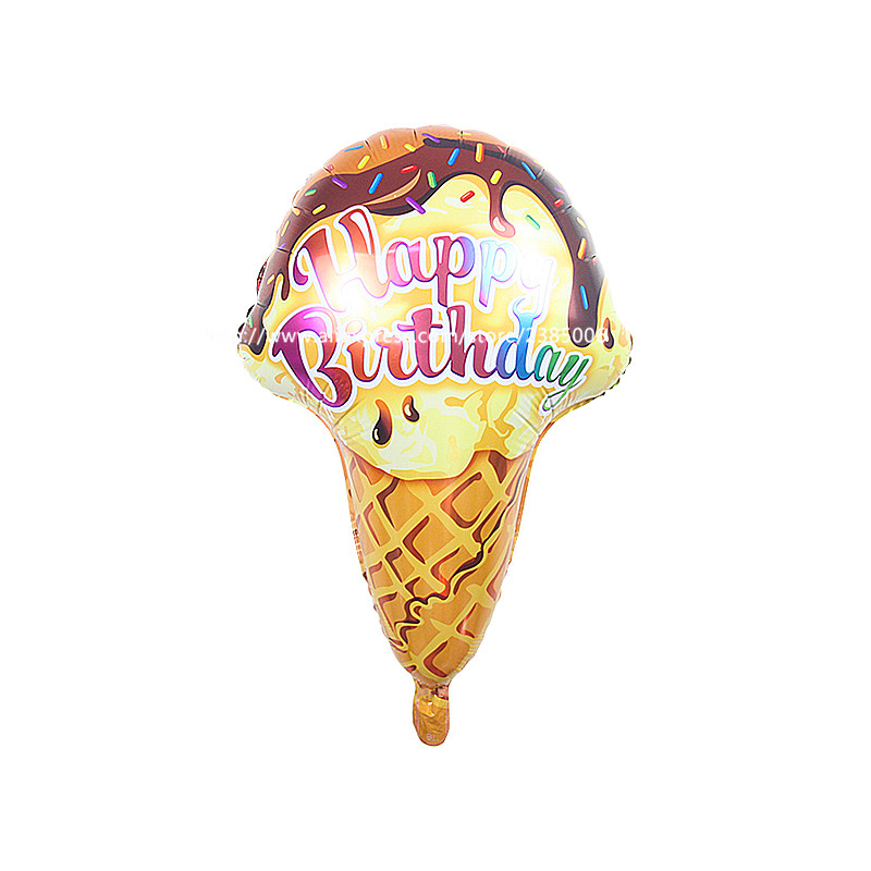 25pcs/lot Ice Cream Balloons Happy Birthday Balloons 56*53cm Balloons Birthday P
