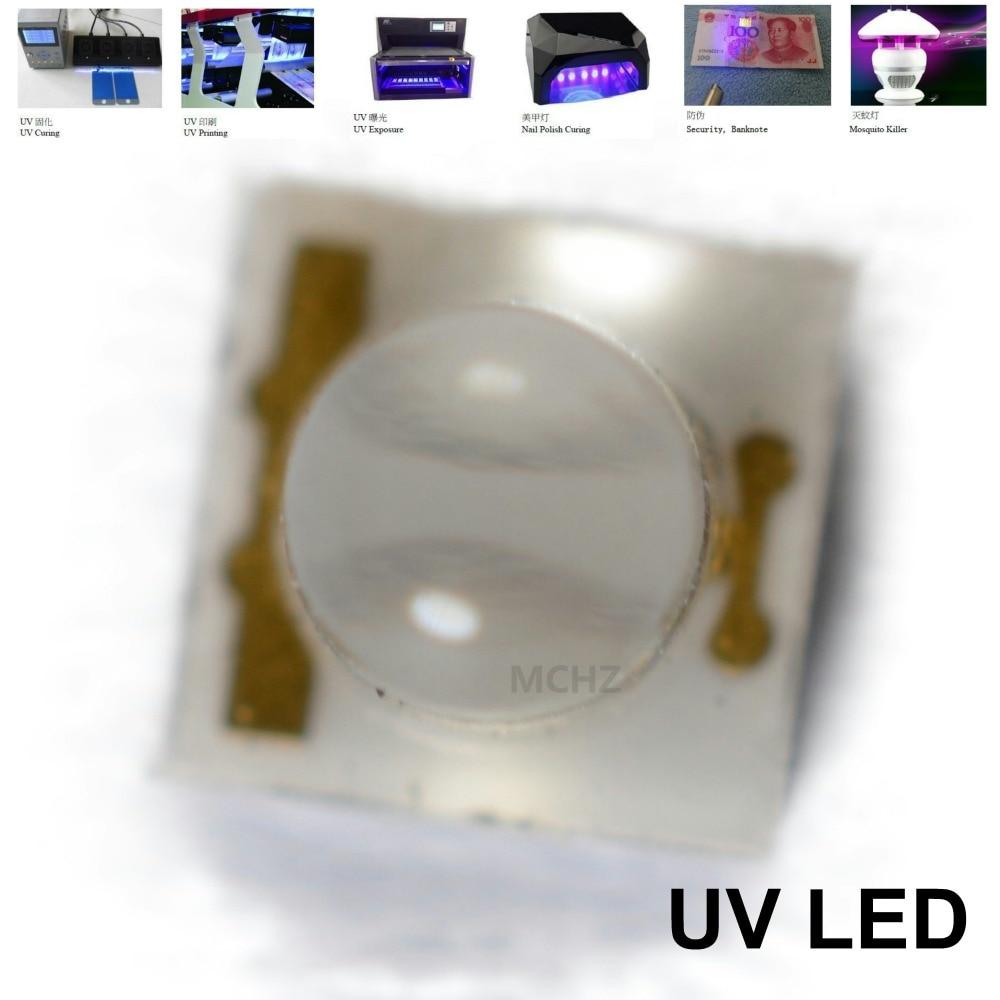 120PCS HONGLI Replace CREE LG 3535 1 2W UVA UVB UVC LED 390 395 400NM in Light Beads from Lights Lighting