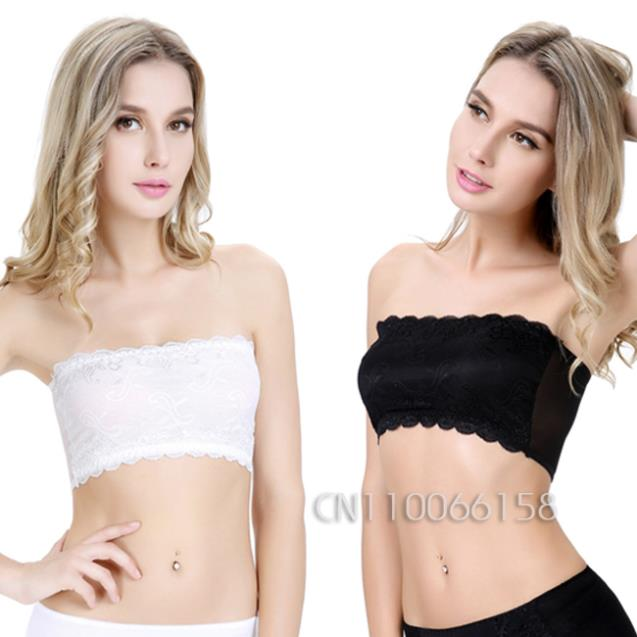 4ea8da65a48 GZDL Women Padded Cropped Bustier Bralette Lace Stomach Chest Wrap Corset  Crop Top Underwear Tank Strapless Sexy Tube Top BR5052-in Tube Tops from  Underwear ...