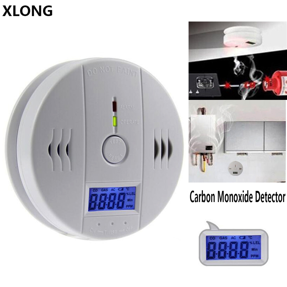 Security Sirens Carbon Monoxide Alarm /CO Detector Poisoning Gas Detector Sensor 85db Warning Alarm System for Home Hotel golden security lpg detector wireless digital led display combustible gas detector for home alarm system