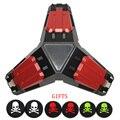 Triángulo de hierro led 3usb puertos cargadores estación de carga del muelle del soporte + 6x gamepads joystick tapas de silicona para controlador xbox one