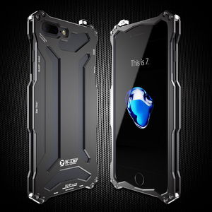 Image 2 - Металлический бампер для iPhone 7 R JUST Gundam, противоударные высококачественные уличные Чехлы для iPhone 7 Plus, бронированный Алюминиевый Чехол