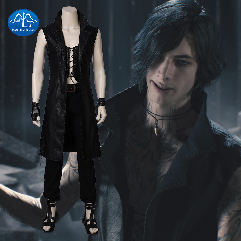 New Game Devil May Cry 5 Cosplay Costume Men Vitale Costume Halloween Costumes For Men Carnival Game Suit For Men Custom Made