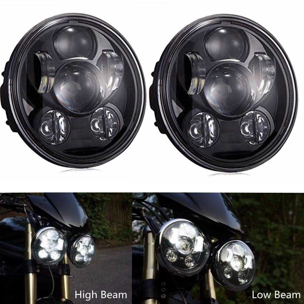 5.75 Inch Led Headlights For Harley Triumph Rocket Iii 3 & Speed Triple & Street Triple & Thunderbird (2 Pieces)