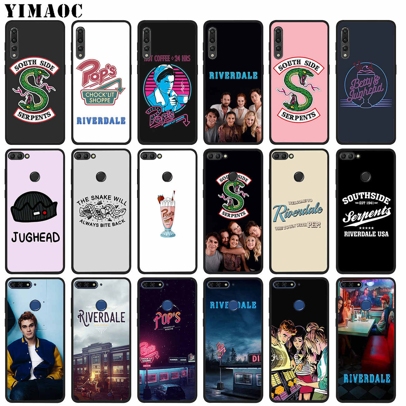 YIMAOC Riverdale South Side Serpents Soft Silicone Phone Case for Huawei P20 Pro P10 P9 P8 Lite Mini 2017 P Smart Z 2019 Cover