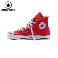 100 Orginal Converse Men Shoes Skateboard Women Shoes Red High Top Canvas Shoes All Star Shoes