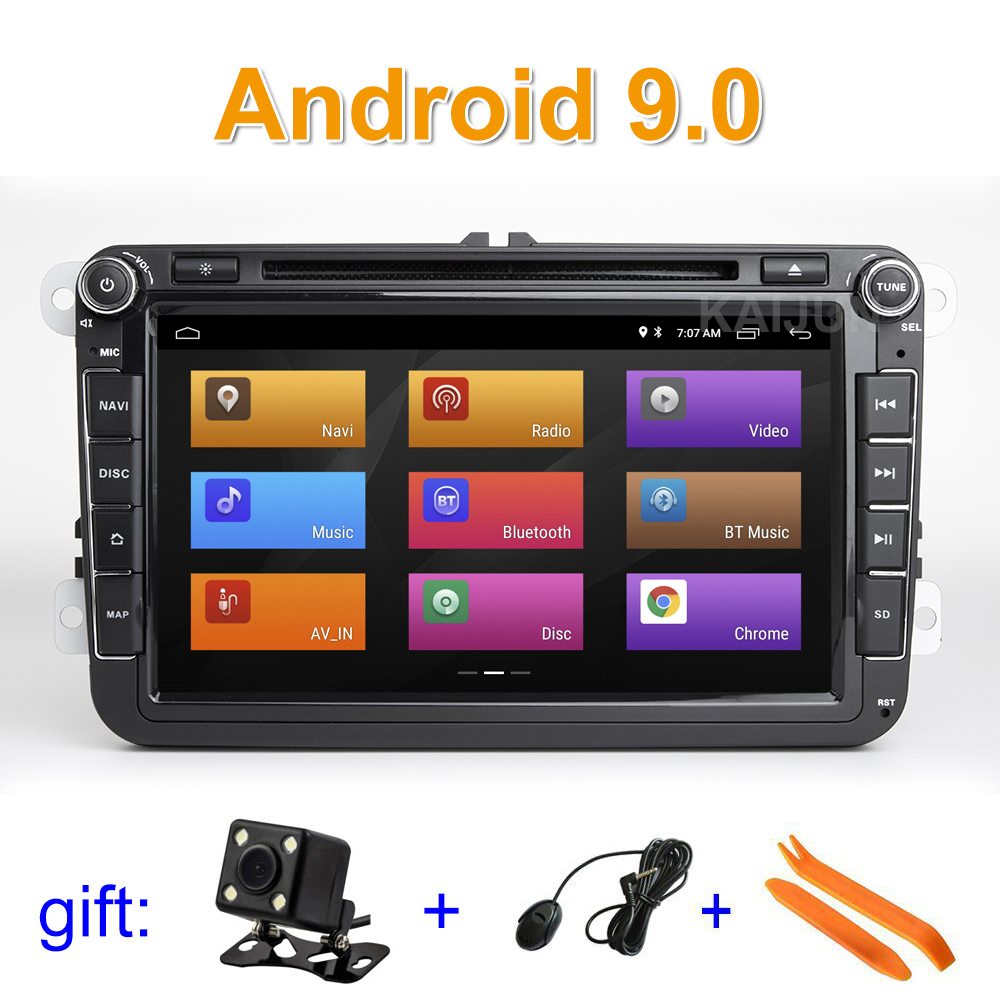 8 Android 9 Car DVD multimedia Player Stereo Radio GPS for VW Golf Polo Tiguan Passat
