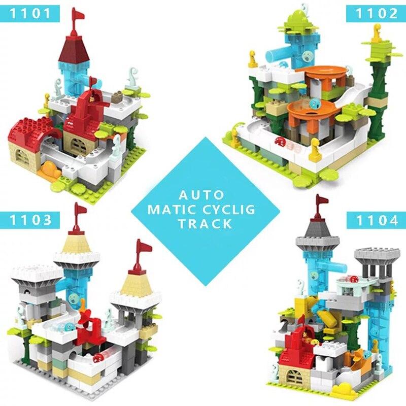Nouveau Wange Mini briques blocs de construction heureux ferme pays briques bricolage créatif éclairer jouets éducatifs pour enfants LegoINGlys