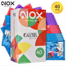 NOX 40pcs Sex Product Condom for men Ultra Thin Natural Latex Lubricated Condoms Intimate Goods Sex Erotic Penis Extender Sleeve
