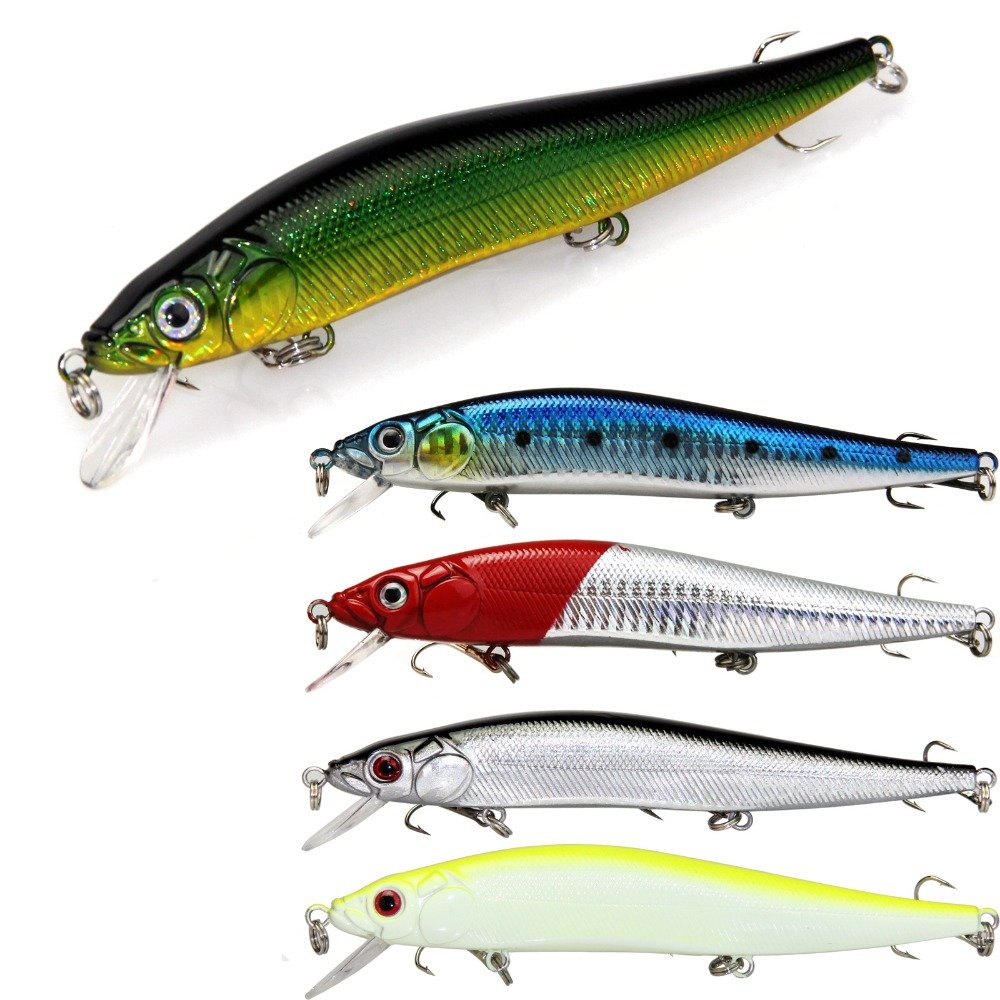 Hard baits 13cm 24g minnow fishing lure pike bass fishing for Pike fishing lures