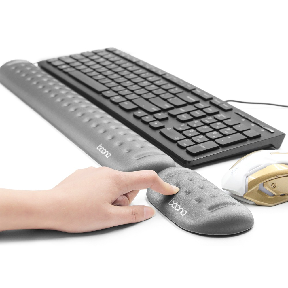 Rest your wrist!- Memory foam massage hole keyboard pad & mouse pad(China)