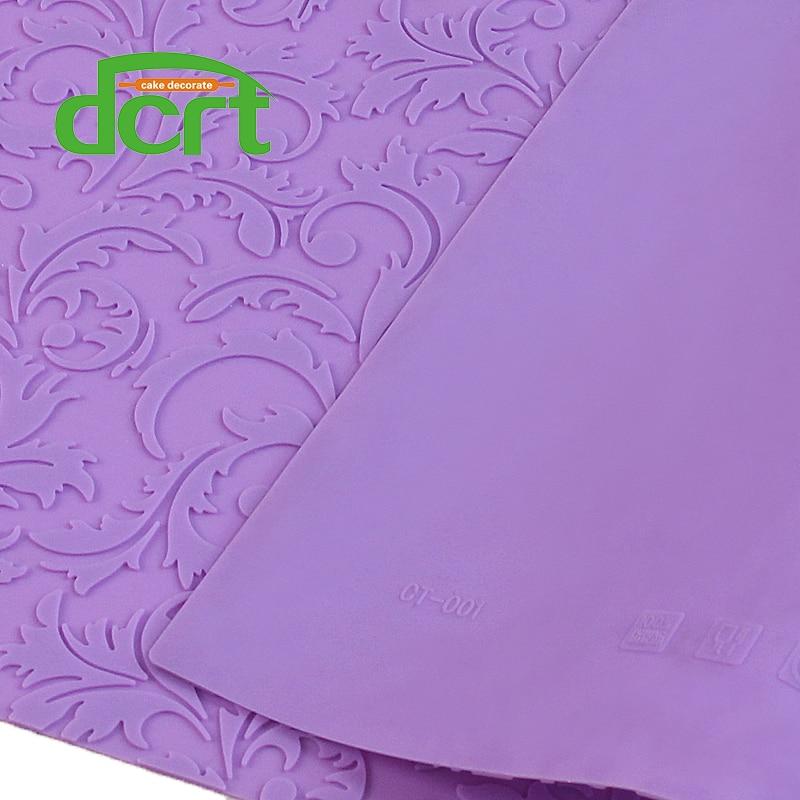 580 * 380mm i madh myk dantelle silikoni me lule Shape Lace dantella Mat Fondant Toolsmbëlsira Mjete Ujdisje Vegla Pjekje për Dallat e Sheqerit CT001