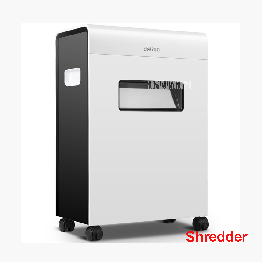 9901 electric paper shredder office 23L volume 220VAC/ 50Hz energy saving automatic shutoff paper shredder drawer type A4 white