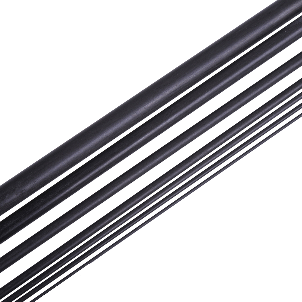 16pcs/lot New Carbon Fiber Rods for RC Plane DIY tool wing tube Quadcopter arm 1mm 1.5mm 2mm 3mm (500mm) Wholesale