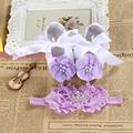 Christening baptism newborn baby girl shoes headband set,toddler baby shoes branded first walker,booties shoes for girls