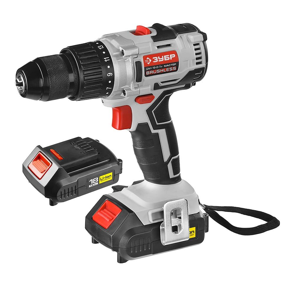 Cordless drill screwdriver ZUBR DAI-18-2-Li KNM4