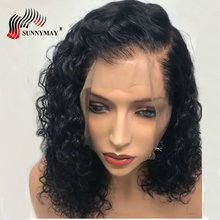 Sunnymay Full Lace Human Hair Wigs Loose Curly Pre Plucked Hairline Brazilian Remy Hair Lace Wig With Baby Hair Glueless цена 2017