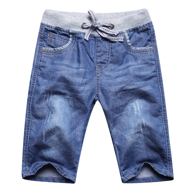 New Children Kids fashion summer jeans five 98.9% cotton+1.1% Spandex  Soft and comfortable joker pants Leisure clothes