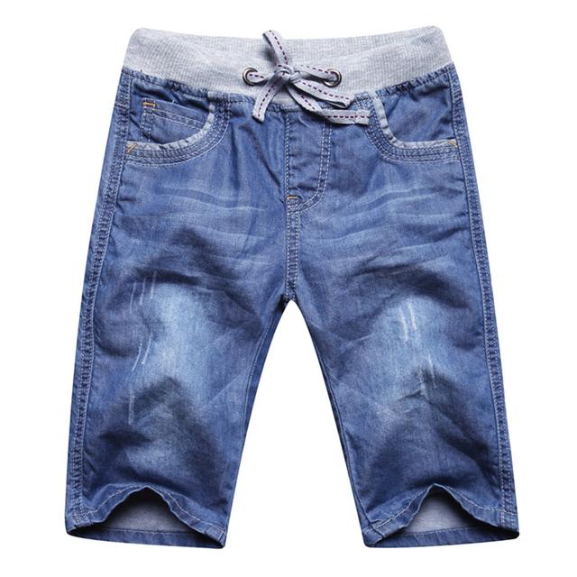 Novas Crianças moda Infantil verão calças de brim cinco 98.9% algodão + 1.1% Spandex Macio e confortável calças joker Lazer roupas