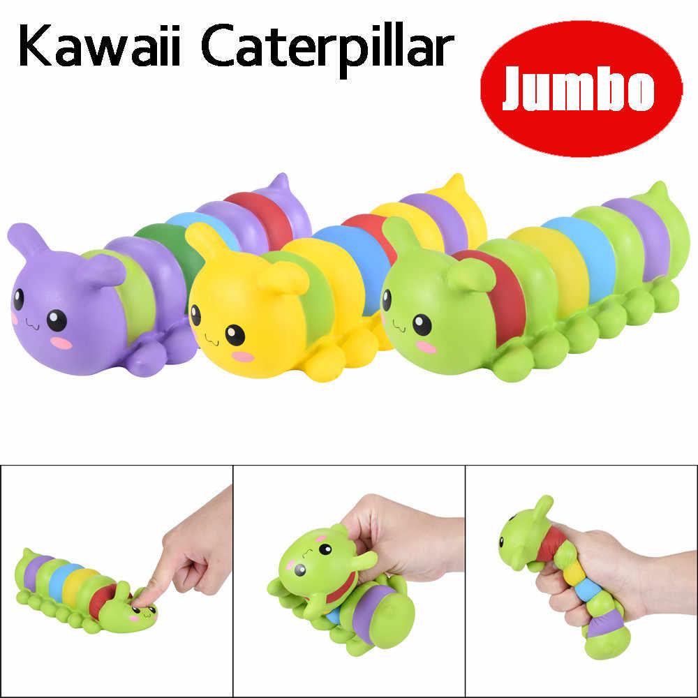 17 cm Jumbo Squishy Caterpillar powolny rośnie krem pachnące zabawka antystresowa dla dziecka dzieci anty stres gadżety antystresowe zabawki P35