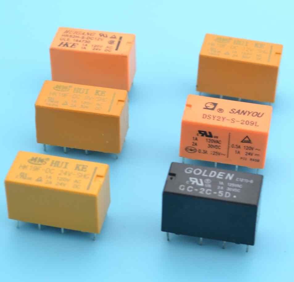 2pcs dpdt pcb relay 3v 5v 9v 12v 24v 8 pins relay switch [ 953 x 914 Pixel ]