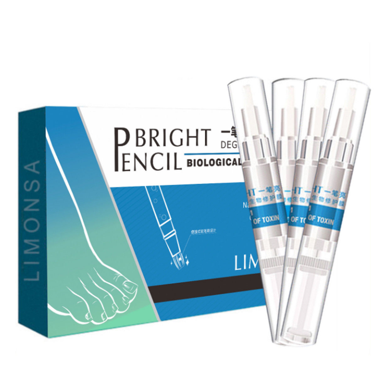 4pcs/set 3ml Solution Anti Fongique Infection Nail Bright Pencil Fungal Treatment Anti Fungus Biological Repair Restores Healthy4pcs/set 3ml Solution Anti Fongique Infection Nail Bright Pencil Fungal Treatment Anti Fungus Biological Repair Restores Healthy
